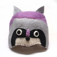 Purple racoon hat