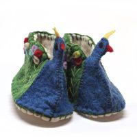 Peacock booties