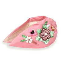 Pink floral headband
