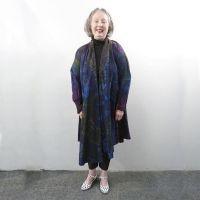 Tie dye straight coat