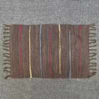 Multi-colored brown rug