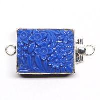 Blue flower clasp