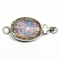 Opalescent scarab clasp