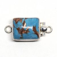 Turquoise and gold Murano clasp
