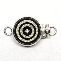 Silver swirl clasp