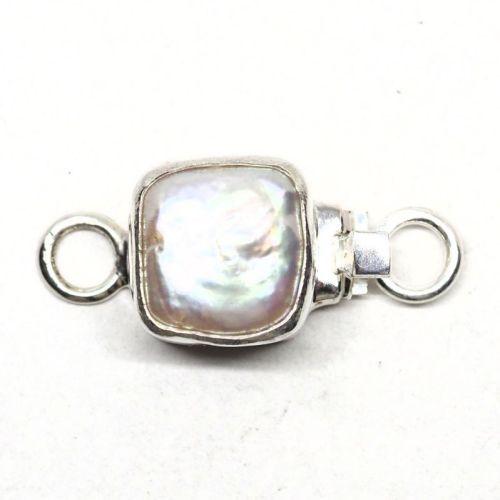 Square pearl clasp
