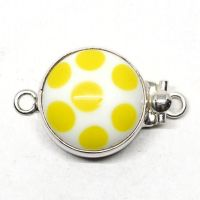 Yellow polka dot clasp