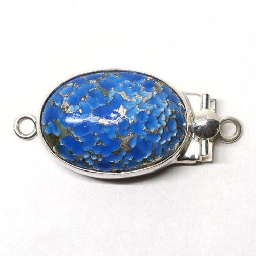 Sea blue and silver box clasp