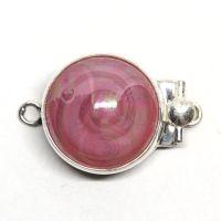 Pink swirl box clasp