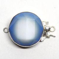 Generous blue & white clasp