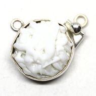 White bird's nest pendant clasp
