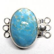 Faux turquoise clasp