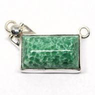Green alabaster pendant clasp