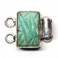 Tiny green Deco bracelet clasp