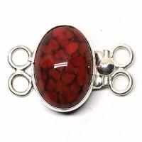 German coral bracelet clasp