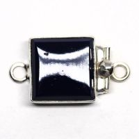 Glass lapis clasp