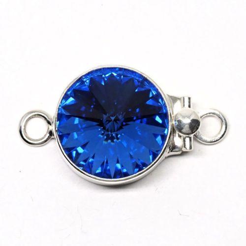 Light Sapphire Swarovski clasp