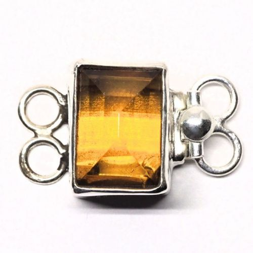 Faux amber bracelet clasp