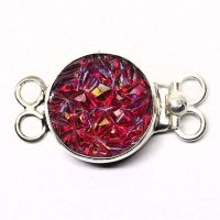 Red baroque stone clasp