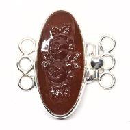 Carnelian rose bracelet clasp