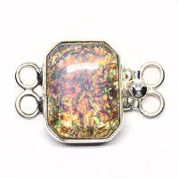 Opalescent bracelet clasp