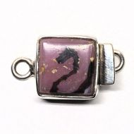 Square pink and black clasp