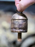Hand-made copper bell, 2 inch