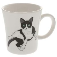 Black and white meow mug