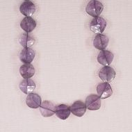 10 mm faceted amethyst diamond beads