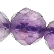2 mm micro-faceted amethyst beads
