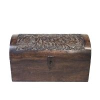 Carved Indian chest