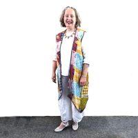 Kantha cloth reversible vest