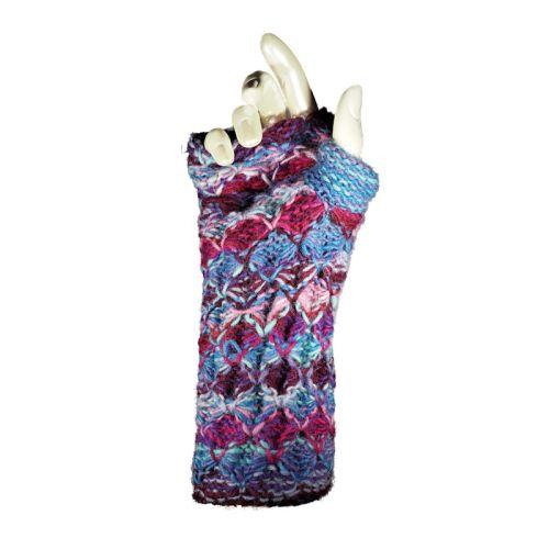 Knitted wool fingerless gloves