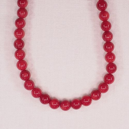 9 mm round bamboo coral beads