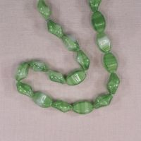 Vintage lime stripe small beads