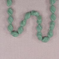 Vintage German turquoise twist beads