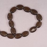 Rootbeer 20 mm flat oval beads