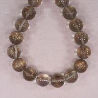 18 mm round gold glitter beads