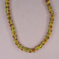 8 mm yellow decorated beads