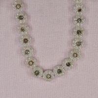9 mm round vintage glass flower beads