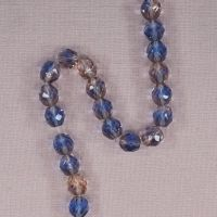8 mm blue and pink crystal beads
