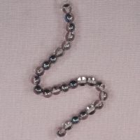6 mm aqua shadow round beads