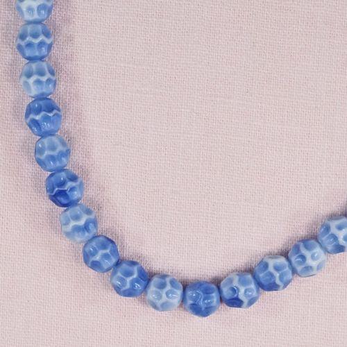 8 mm round vintage German glass beads