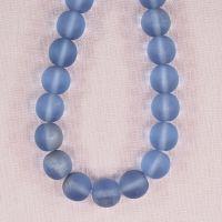 10 mm round Vintage czech blue glass beads