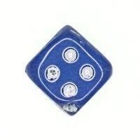 Blue dice beads