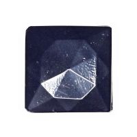 Vintage blue square two-hole beads