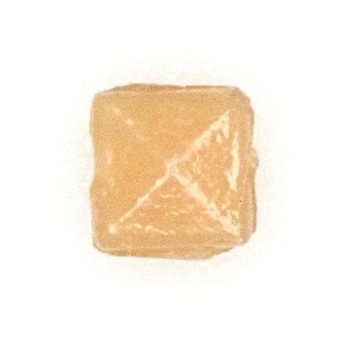 Vintage miniscule tan square beads