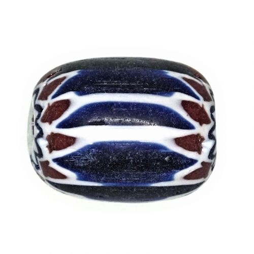 Traditional blue and white chevrons 20 mm