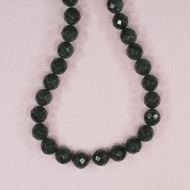 10 mm faceted round jade beads