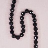11 mm faceted round jade beads